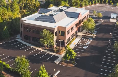 aerial photo of Westerre Conference Center
